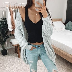 Urban Outfitters - Light Gray Oversized Cardigan